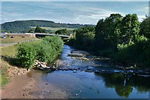 SO5012 : Monmouth: The River Monnow from the Monnow Bridge by Michael Garlick