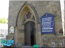 SK2375 : St Martin, Stoney Middleton: entrance by Basher Eyre
