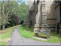 SK2572 : St Anne, Baslow: churchyard (v) by Basher Eyre