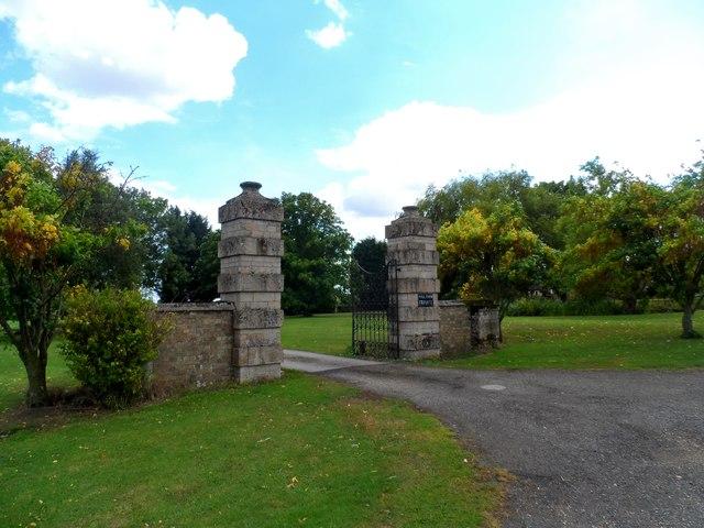 Gates to Washingley Hall Farm