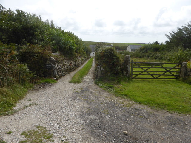The entrance to Higher Trye