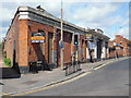 TQ1097 : Former Bus Garage, Leavesden Road (1) by David Hillas