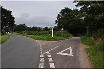SX9896 : East Devon : Road Junction by Lewis Clarke