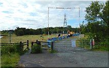 NS3977 : Work on pylons at Dalquhurn by Lairich Rig