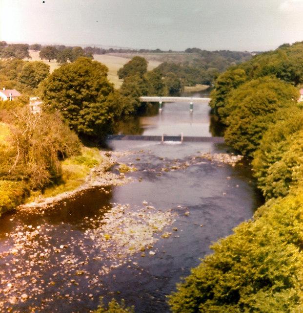 River Tees at Barnard Castle 1976