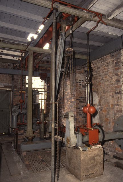 Beam engine in a former shop, Macclesfield