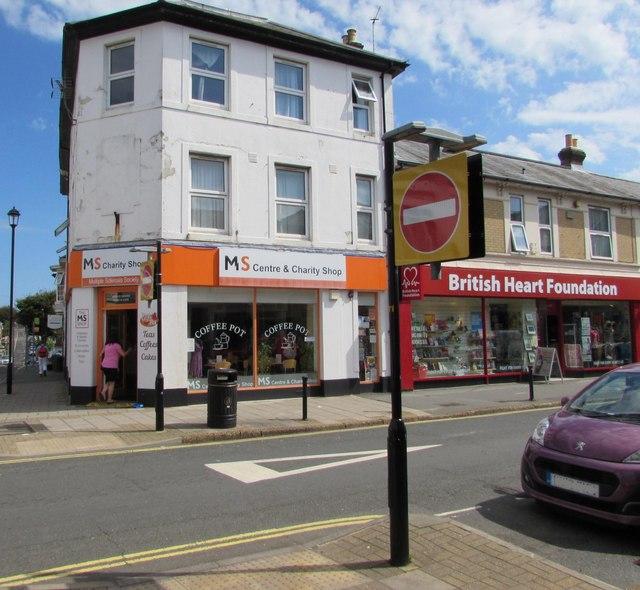 Two Regent Street charity shops in Shanklin