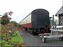 NZ9208 : Railway van at the old Hawsker station by John Lucas
