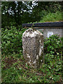 SD4875 : Boundary stone with bench mark, Storrs Lane by Karl and Ali