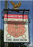 SP9435 : Sign for the Anchor, Aspley Guise by JThomas