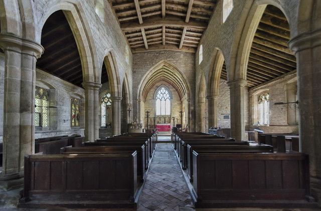 Interior, St Gregory's church, Fledborough