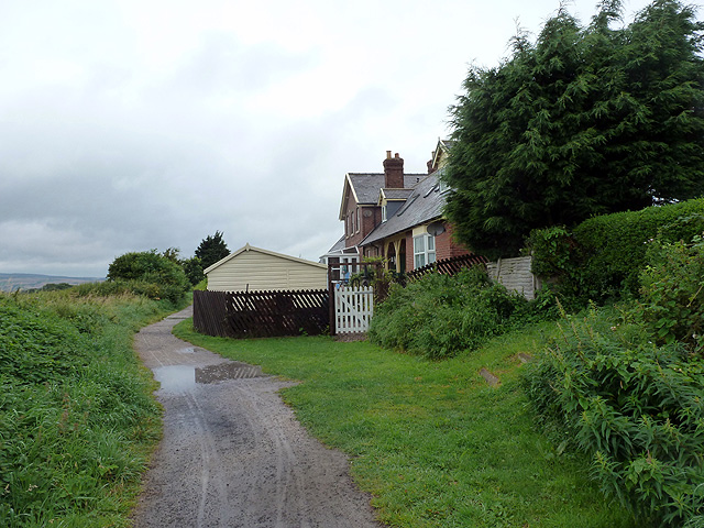 The Cinder Track bypassing Hawsker station buildings