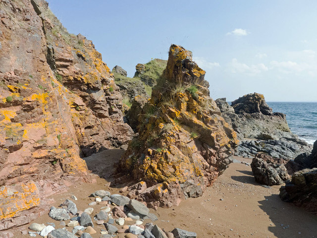 The tidal section of the Eathie to Hillockhead coastal walk