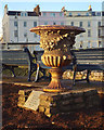 SX9472 : Ornamental urn by the Den, Teignmouth by Robin Stott