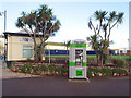 SX9472 : Freestanding cash machine between Tourist Information and the Den, Teignmouth by Robin Stott
