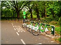 SJ3887 : Citybike Cycle Rack at the Entrance to Sefton Park by David Dixon