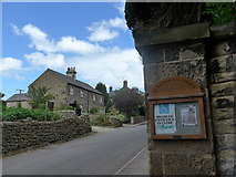 SK2566 : St Katherine, Rowsley: noticeboard by Basher Eyre