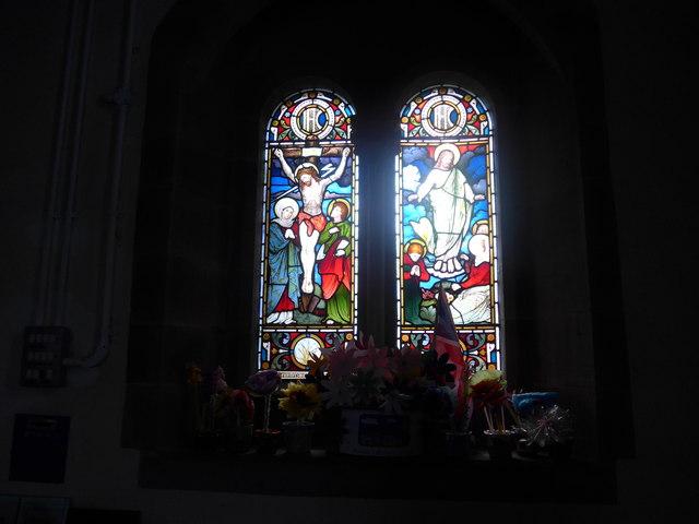 St Katherine, Rowsley: stained glass window (B)