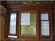 SK2071 : St Giles, Great Longstone: noticeboard by Basher Eyre