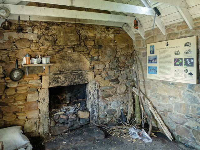 Interior of the Bothy, Eathie Fishing Station
