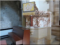 SK2071 : St Giles, Great Longstone: pulpit by Basher Eyre