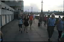 TQ3180 : View along the South Bank towards the OXO Tower #2 by Robert Lamb