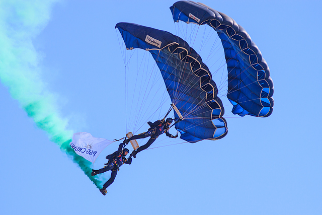 Bournemouth Air Festival 2015 - the Tigers Parachute Display Team