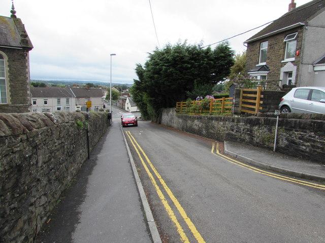 No parking zone in Bank Road, Llangennech