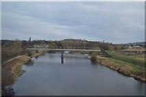 SE2320 : Footbridge, River Calder by N Chadwick