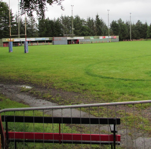 Rugby pitch in Llangennech