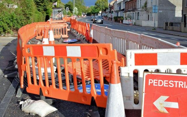 EWAY works, Upper Newtownards Road, Belfast - August 2015(1)