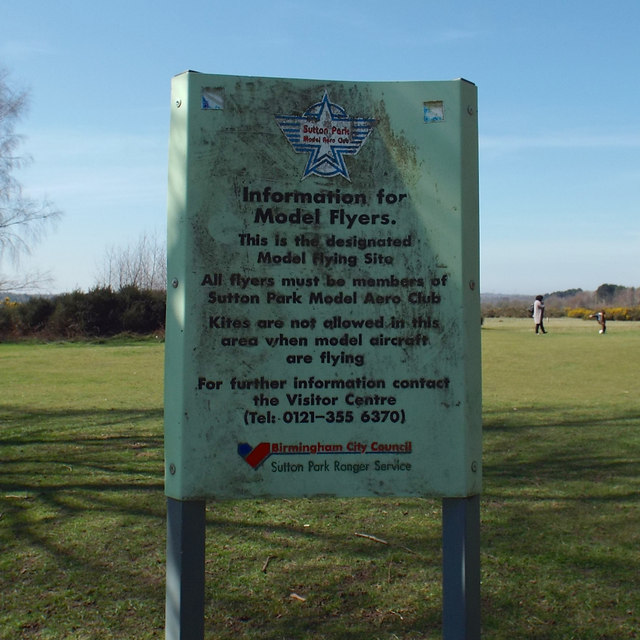 Information for Model Flyers, Sutton Park