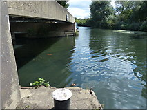 TQ1579 : The River Brent joins the Grand Union Canal by Mat Fascione