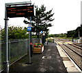 SN5601 : Electronic display board on platform 1, Llangennech railway station by Jaggery