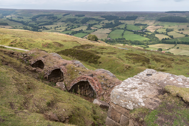 Old Calcining Kilns, Rosedale Chimney Bank, North Yorkshire Moors, Yorkshire