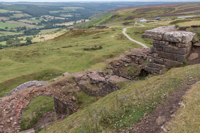 Calcining Kilns associated with the Iron Mining Industry, Rosedale Chimney Bank, North Yorkshire Moors, Yorkshire