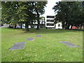 SE3033 : Gravestones in St Mary's churchyard, Mabgate, Leeds  by Stephen Craven