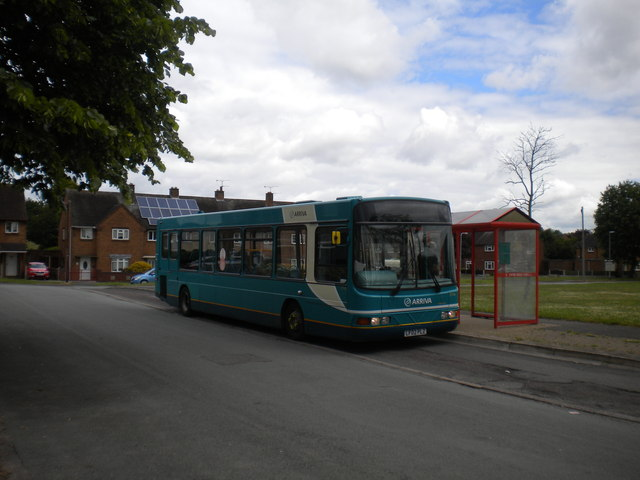 Bus at St Peter's Gardens, Rickerscote