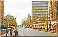 TQ2781 : Westward on Marylebone Road at Gloucester Place, 1989 by Ben Brooksbank