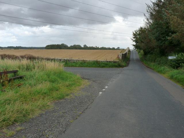Road junction near Duns