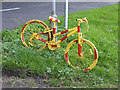 NZ0161 : The stripey bikes of Riding Mill (3) by Oliver Dixon