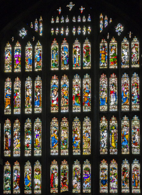 South transept stained glass window, St Mary's church, Nottingham by Julian P Guffogg