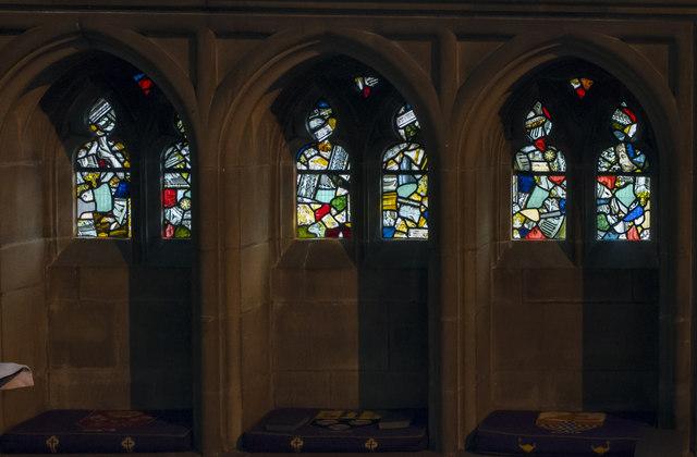 Sedilia, St Mary's church, Nottingham