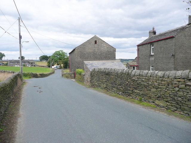 Plain Lane at Lower Plain Farm, Sowerby