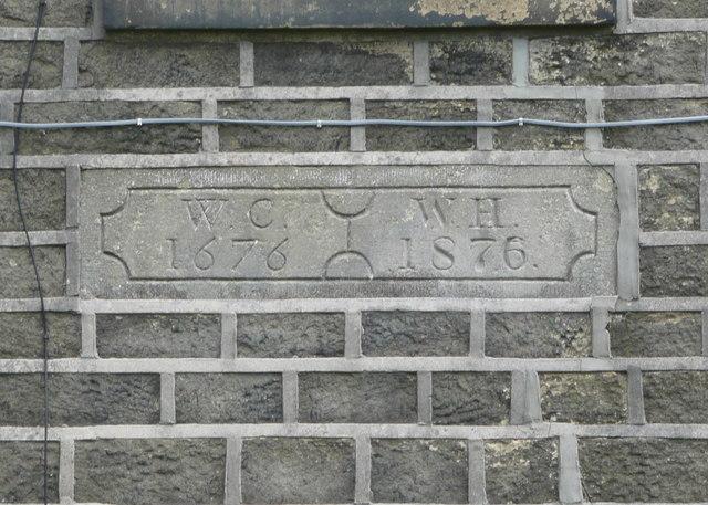 Date stone on Lower Plain Farm