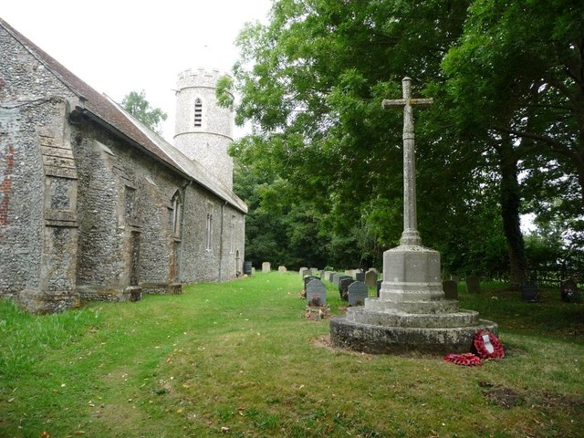 War memorial and churchyard, Spexhall