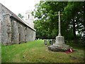 TM3780 : War memorial and churchyard, Spexhall by Christine Johnstone