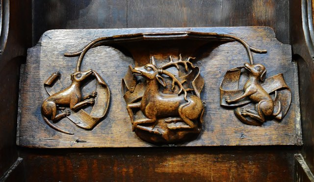 Ludlow: St. Laurence's Church: Misericord North 4 by Michael Garlick