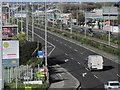 O0931 : Dublin - The R110 Naas Rd towards Dublin from footbridge at Red Cow by Colin Park