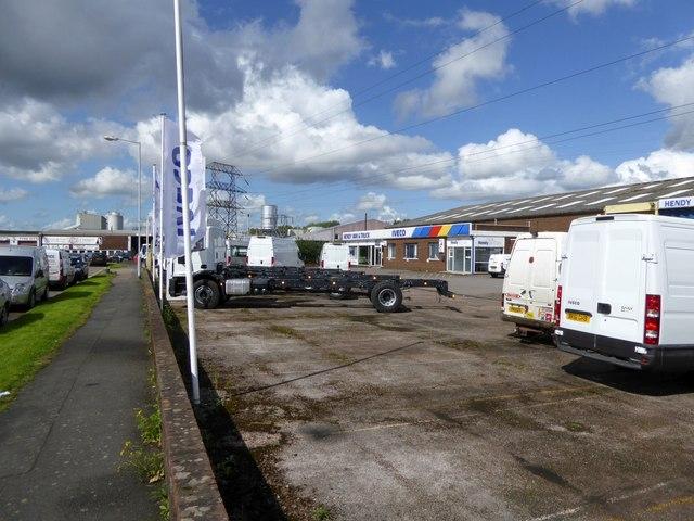 Commercial vehicle garage, Marsh Barton, Exeter